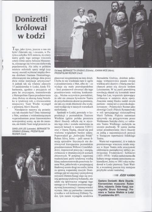 RUCH MUZYCZNY - Donizetti krolowal w Lodzi - Jozef Kanski